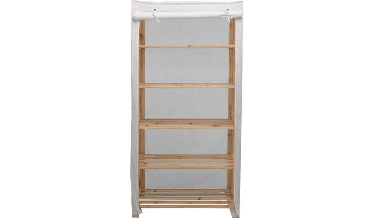 reputable site 1d20d 3b1e5 Buy Argos Home 5 Shelf Polycotton and Wood Unit - Cream | Bookcases and  shelving units | Argos