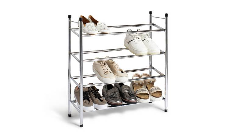 Habitat 4 Shelf Ext Shoe Storage Rack - Chrome Plated