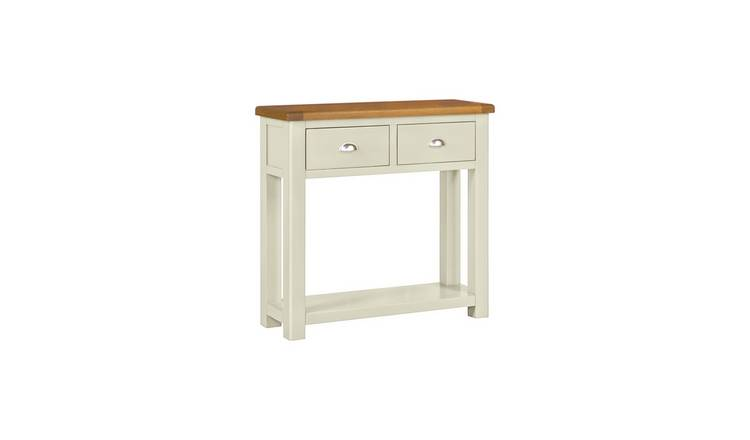 Habitat Kent 2 Drawer Console Table - Oak and Cream