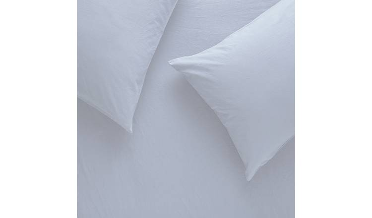 Habitat Washed White Stonewashed Bedding Set - Single