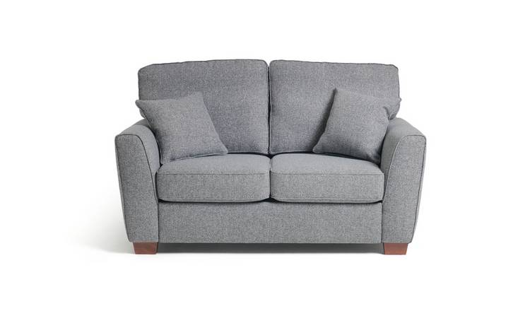 Habitat Milford 2 Seater Fabric Sofa - Grey