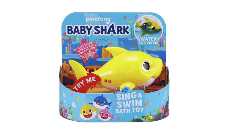 Robo Alive Junior Baby Shark Sing and Swim Bath Toy