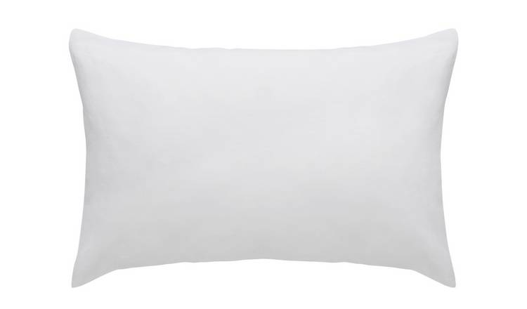 Habitat Linen Standard Pillowcase Pair - White