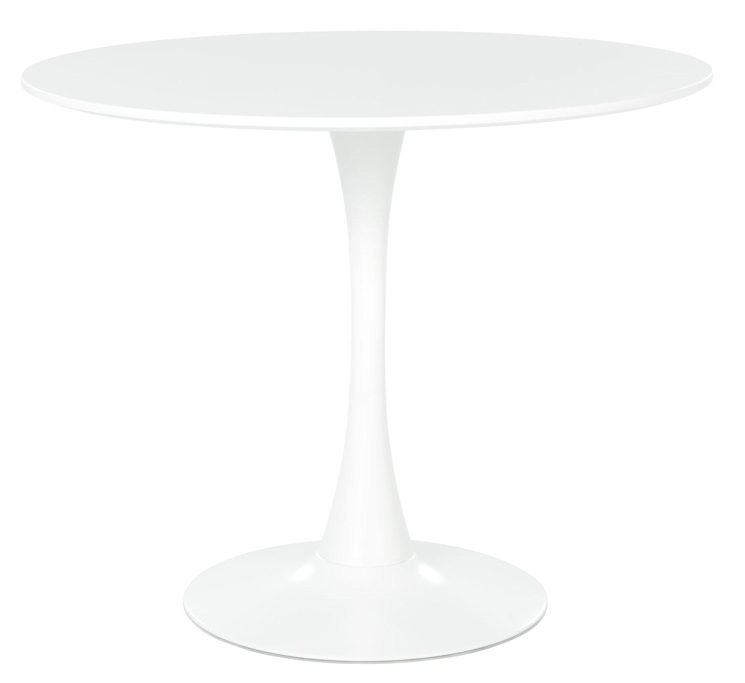 Habitat Tulip 4 Seater Round Dining Table - White