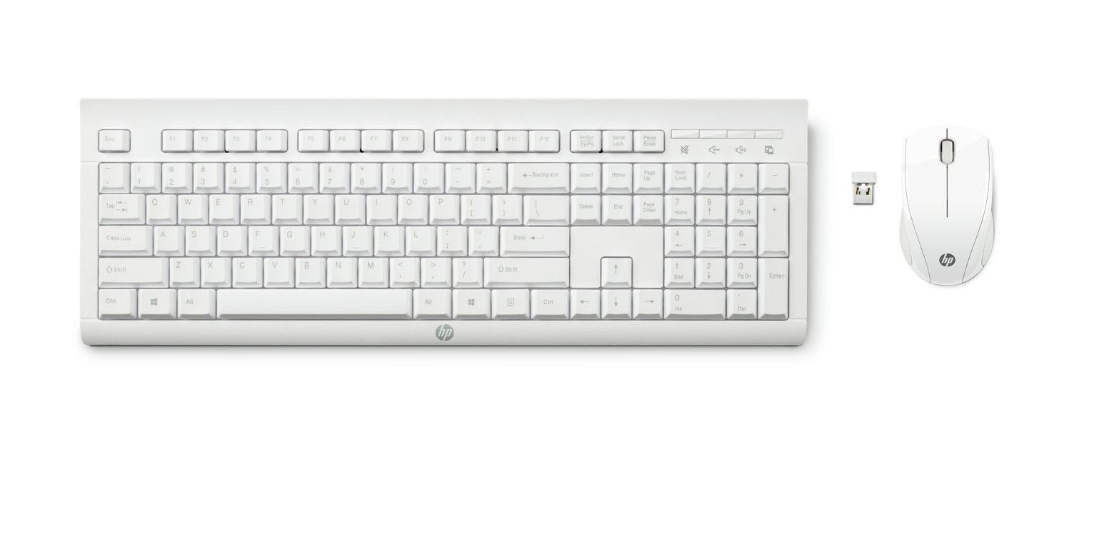 HP C2710 Combo Wireless Keyboard - White