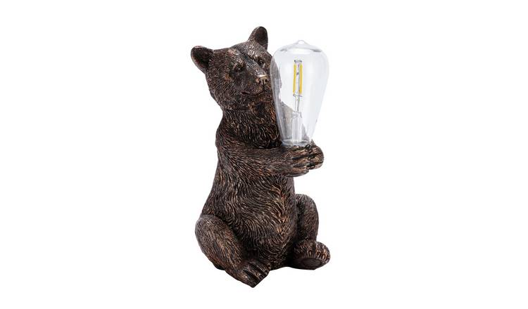 Habitat Warm White LED Bear with Bulb Solar Light