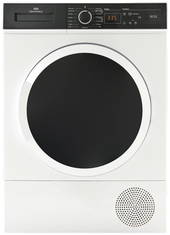 New World NWCGTD9HP 9KG Heat Pump Tumble Dryer - White