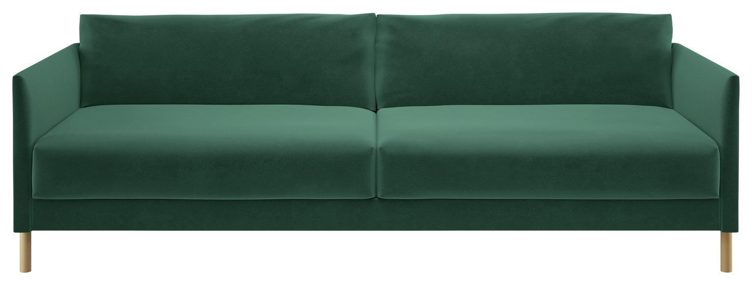 Habitat Hyde 3 Seater Fabric Sofa Bed - Green