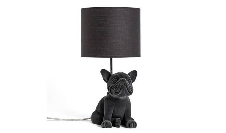 Habitat Bridgette the Bulldog Table Lamp - Grey
