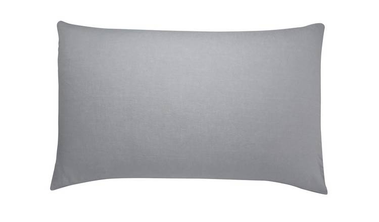Habitat Linen Mist Light Grey Bedding Set - Super King