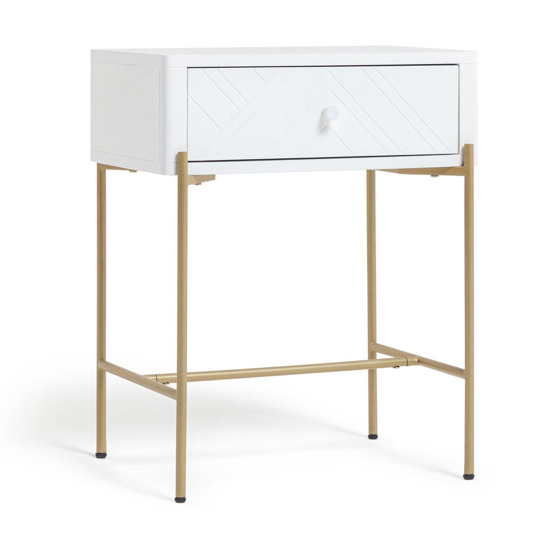 Habitat Barcelona 1 Drawer Bedside Table - White