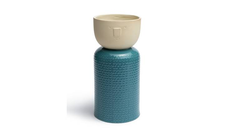 Habitat Novelty Face Vase - Teal