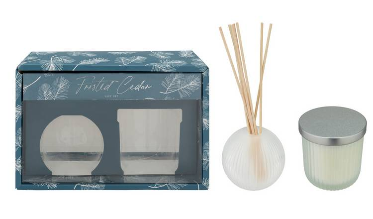 Argos Home Frosted Cedar Gift Set