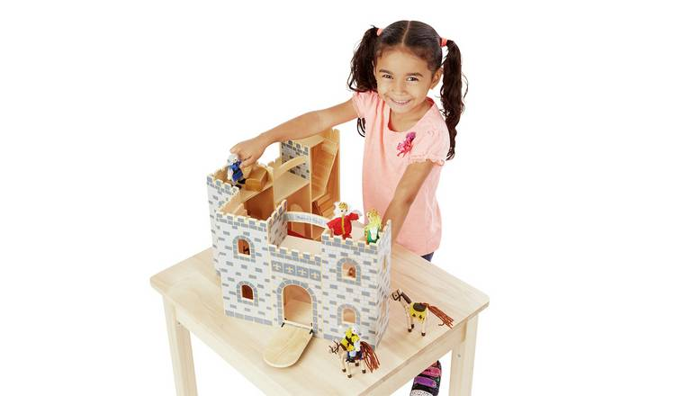 Melissa & Doug Wooden Fold and Go Castle