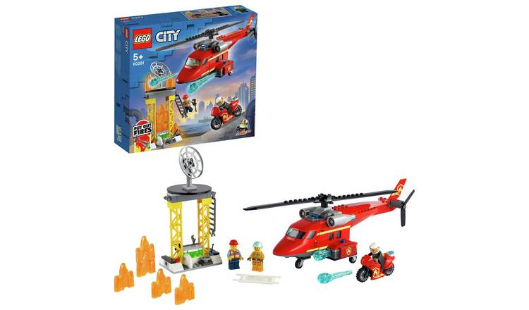 LEGO City Fire Rescue Helicopter and Motorbike Toy 60281