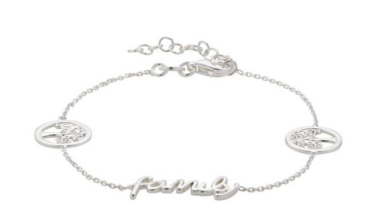 Moon & Back Sterling Silver Family Tree Bracelet