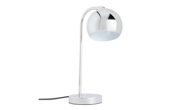 Habitat Curva Table Lamp - Chrome