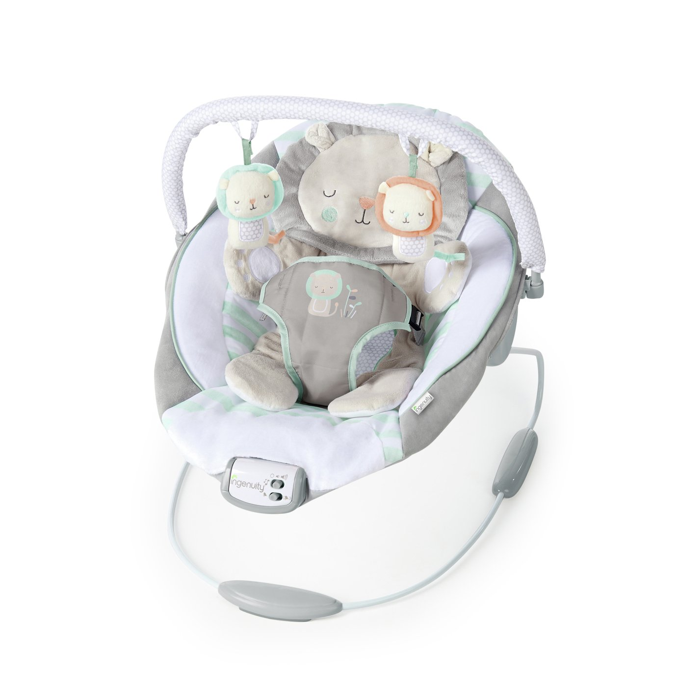 Ingenuity Cradling Lion Baby Bouncer With Toys & Melodies
