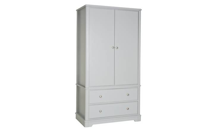 Argos Home Ashbourne Soft Grey 2 Door 2 Drawer Wardrobe