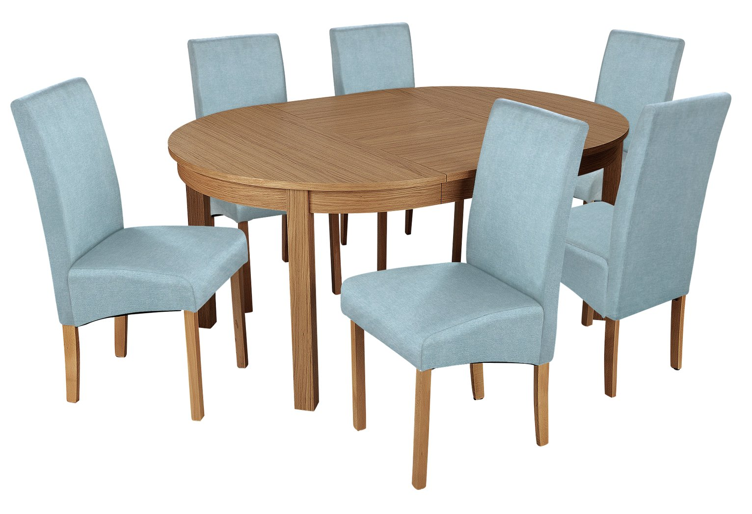 Argos Home Clifton Extendable Table & 6 Chairs - Duck Egg