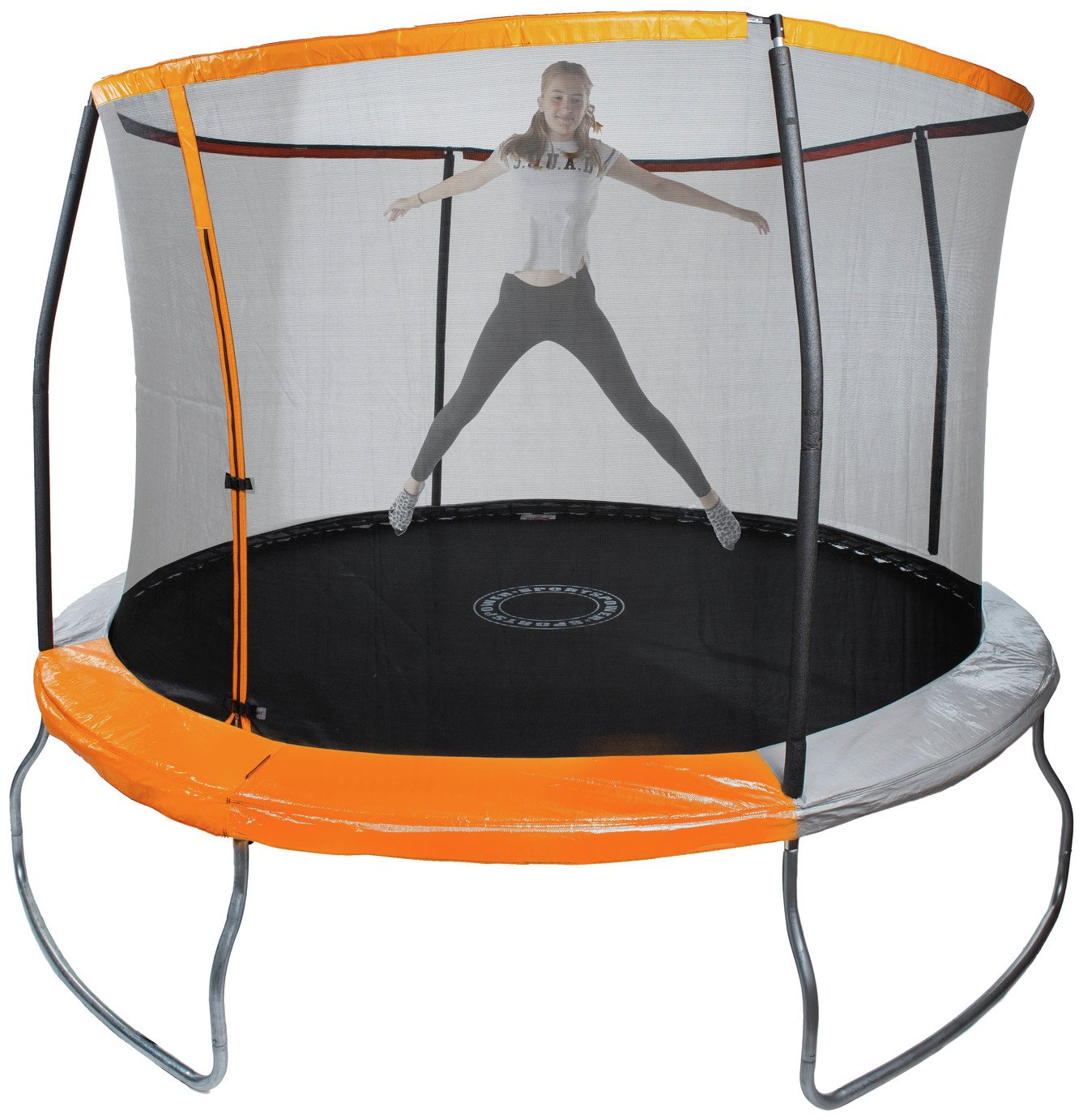Sportspower 10ft Trampoline with Folding Enclosure