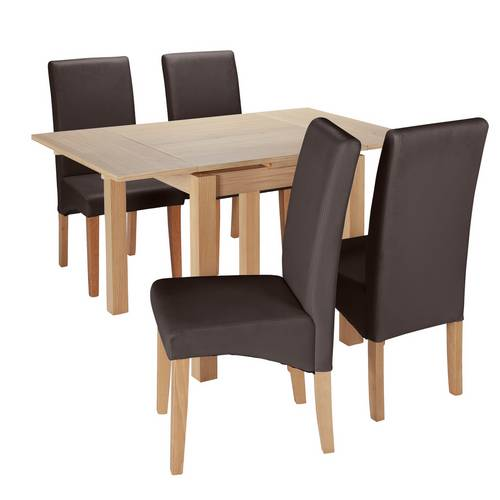 Argos Drop Leaf Table And Chairs: Buy Argos Home Clifton Oak Extending Table & 4 Chocolate