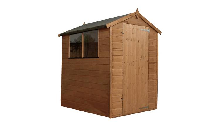 Mercia Wooden 6 x 4ft Shiplap 2 Glazed Window Shed