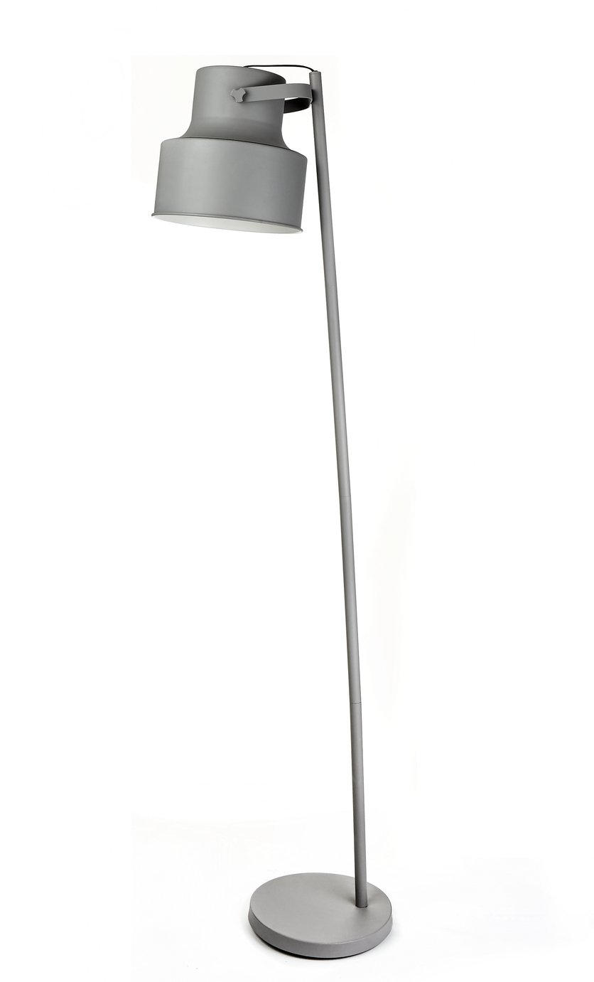 Argos Home Franke Oversized Floor Lamp - Grey