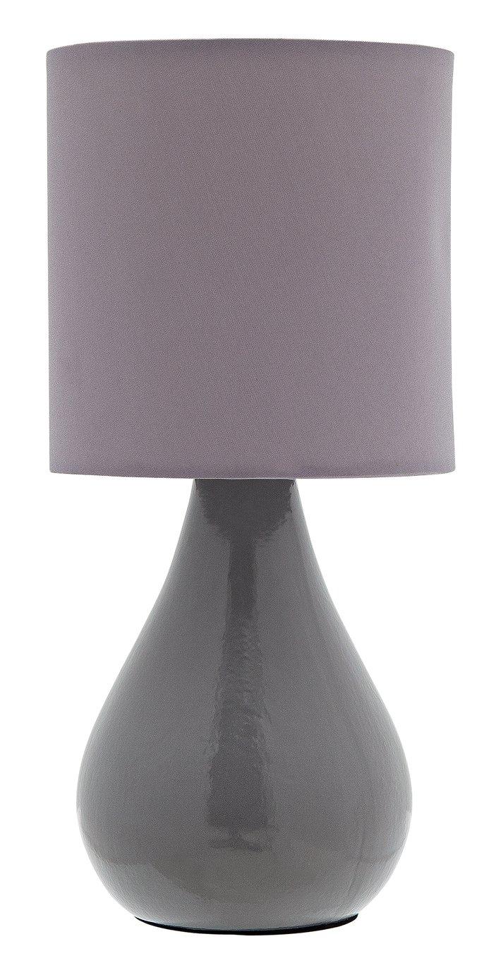 Argos Home Ceramic Table Lamp - Grey