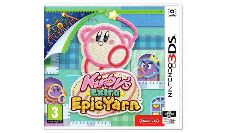 Kirby's Extra Epic Yarn Nintendo 3DS Game