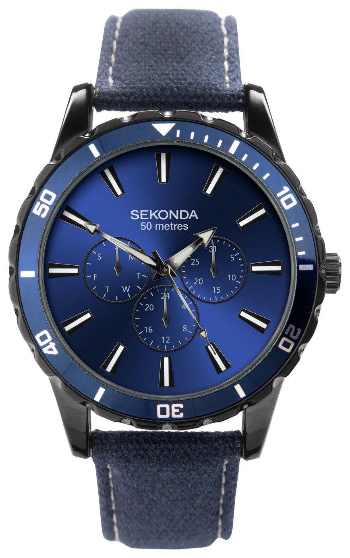 Sekonda Blue Dial Mens Adjustable Strap Watch