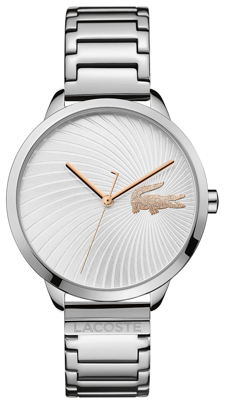 Lacoste White Dial Ladies Stainless Steel Watch
