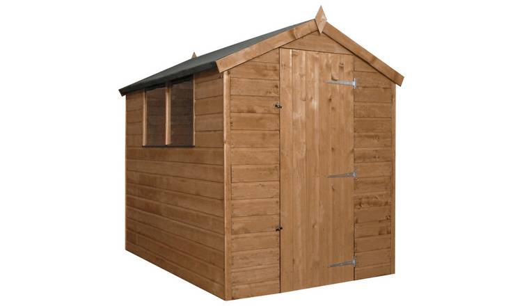 Mercia Wooden 7 x 5ft Shiplap 2 Glazed Window Shed