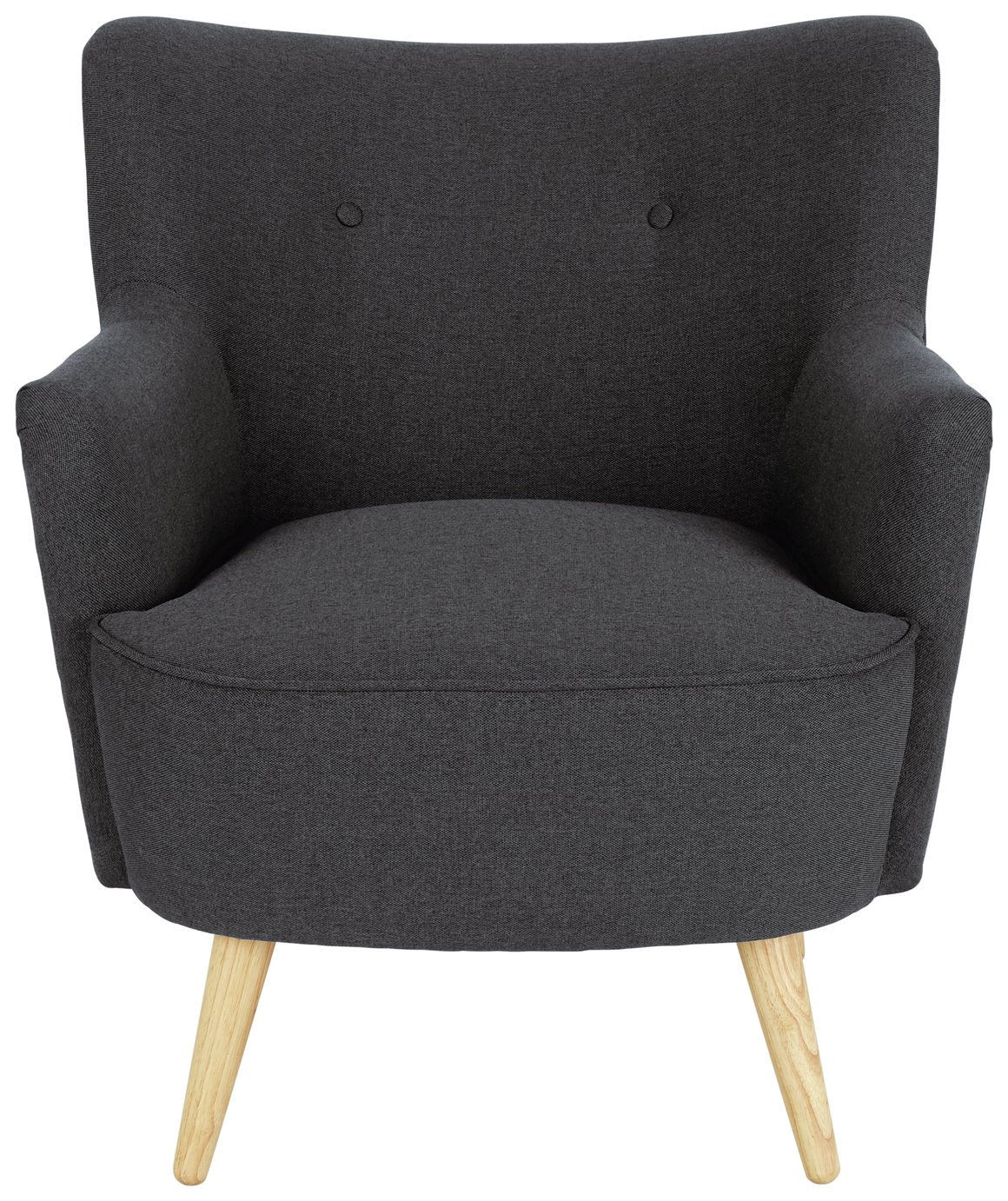 Habitat Franze Fabric Armchair - Charcoal
