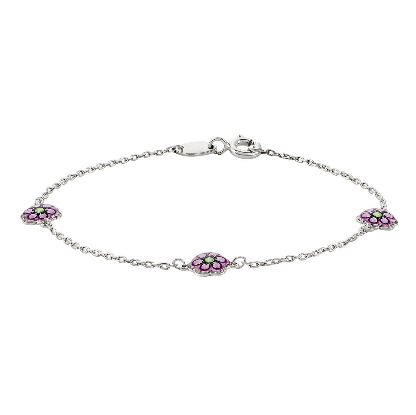 Revere Kids Sterling Silver Flower Bracelet
