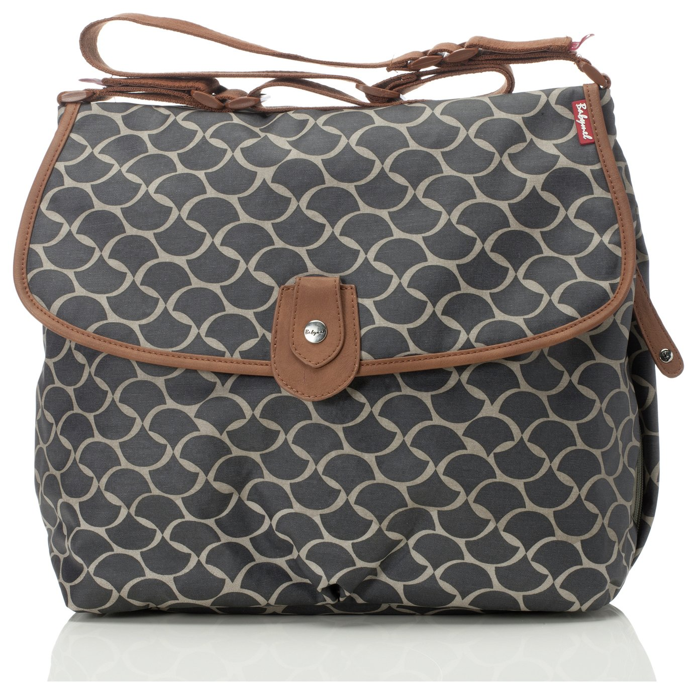 Babymel Wave Elephant Satchel Changing Bag - Grey