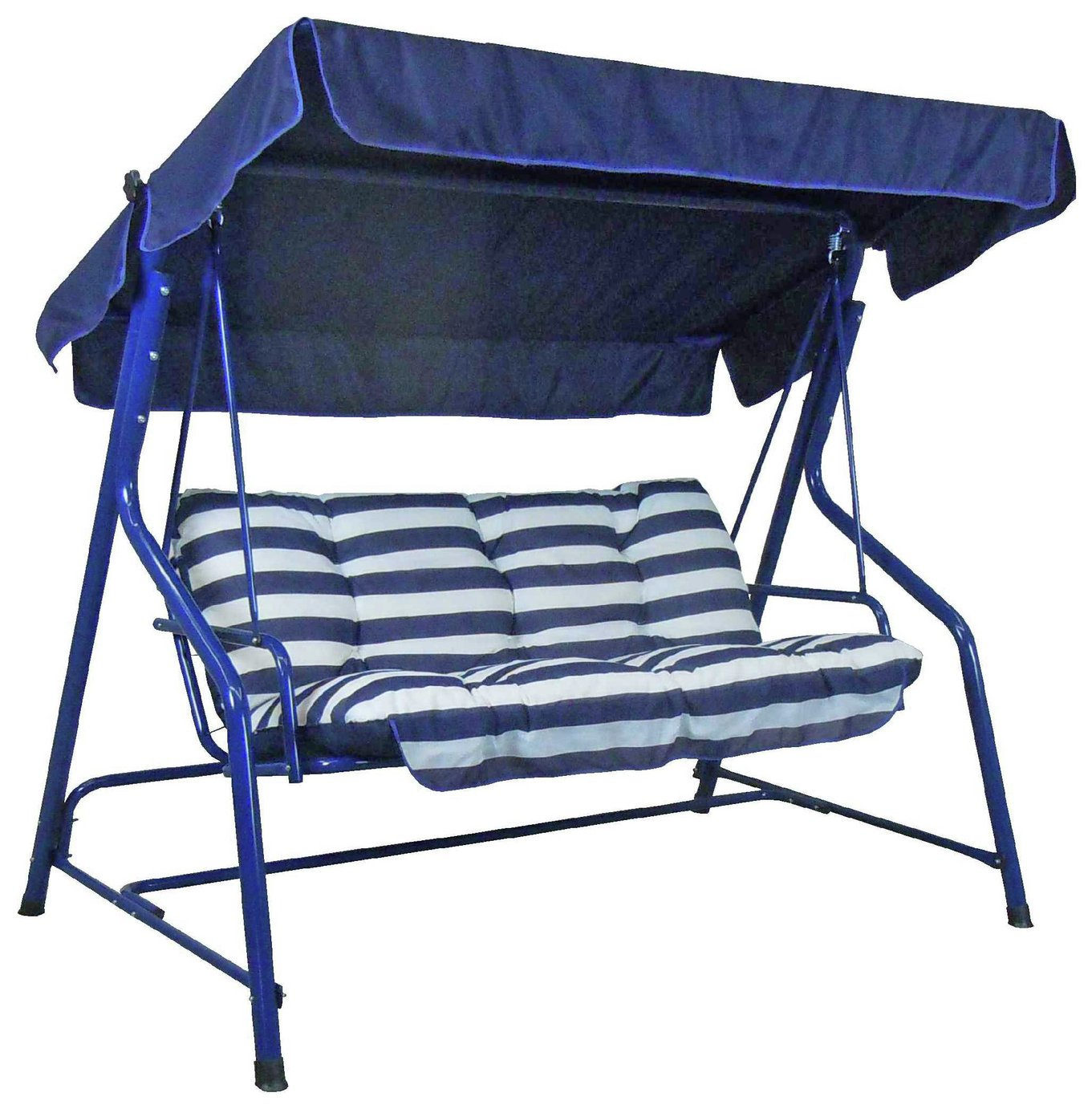 Argos Home Tubular 3 Seater Swing Hammock - Blue