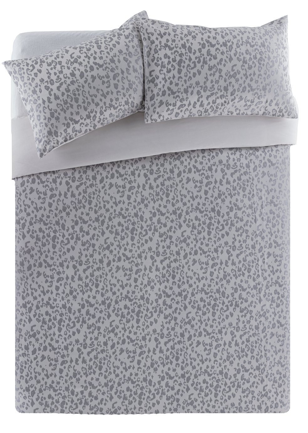 Argos Home Leopard Lurex Jacquard Bedding Set - Double