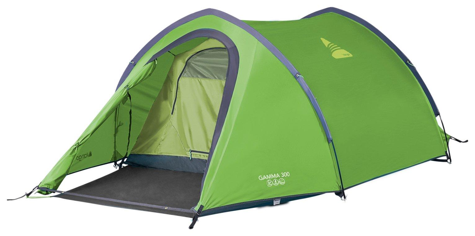 Vango Gamma 3 Man 2 Room Tunnel Camping Tent