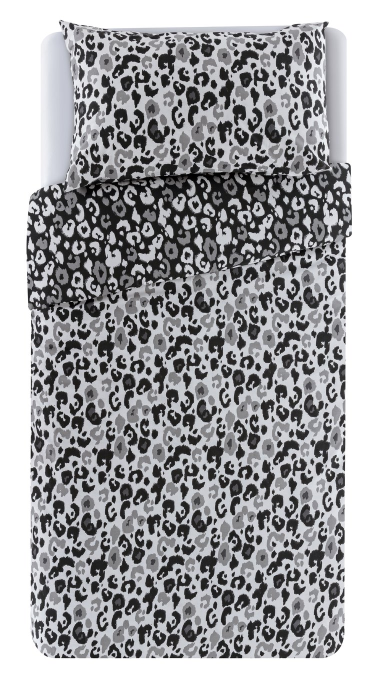 Argos Home Leopard Print Bedding Set - Single