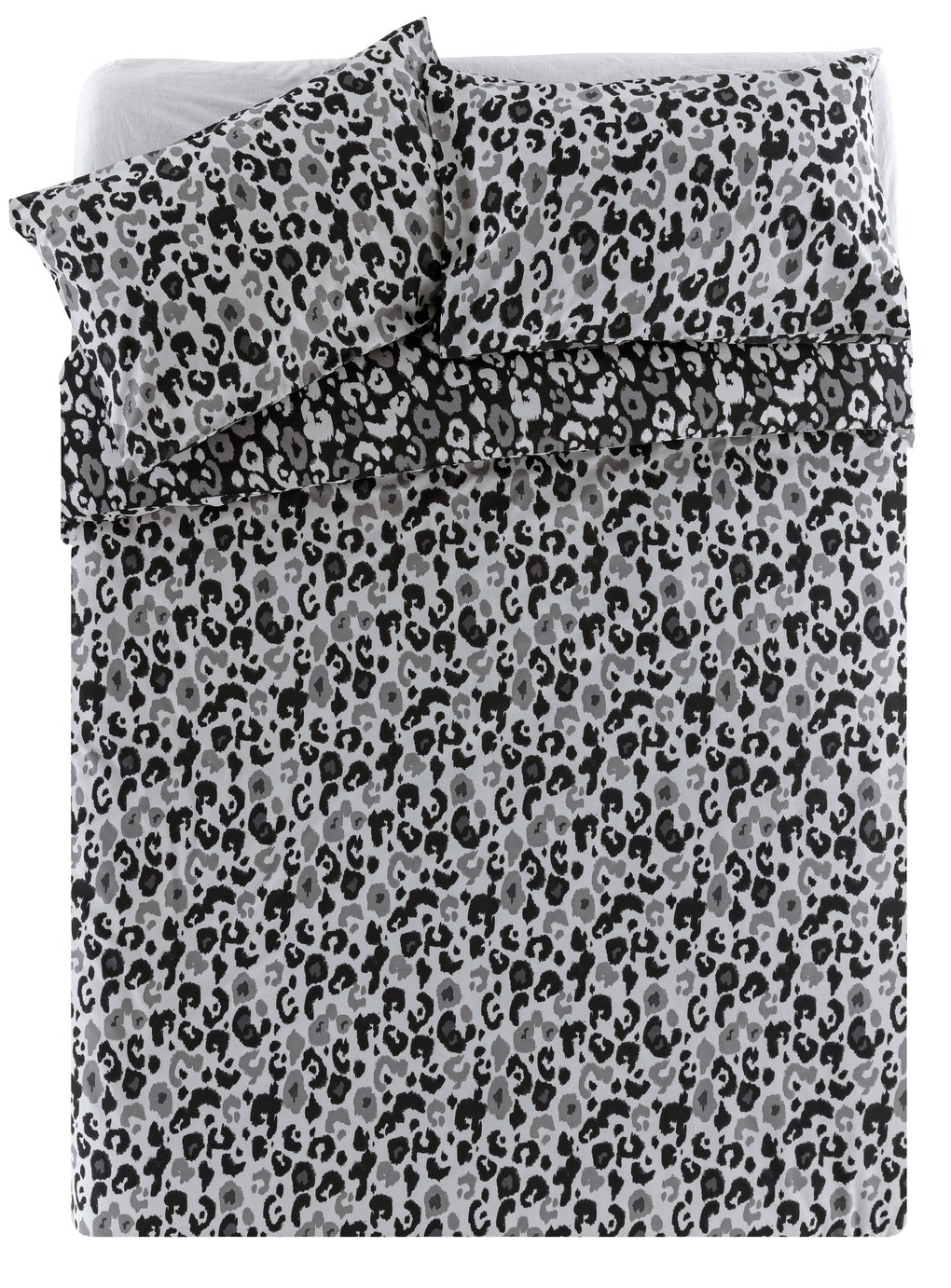 Argos Home Leopard Print Bedding Set - Double