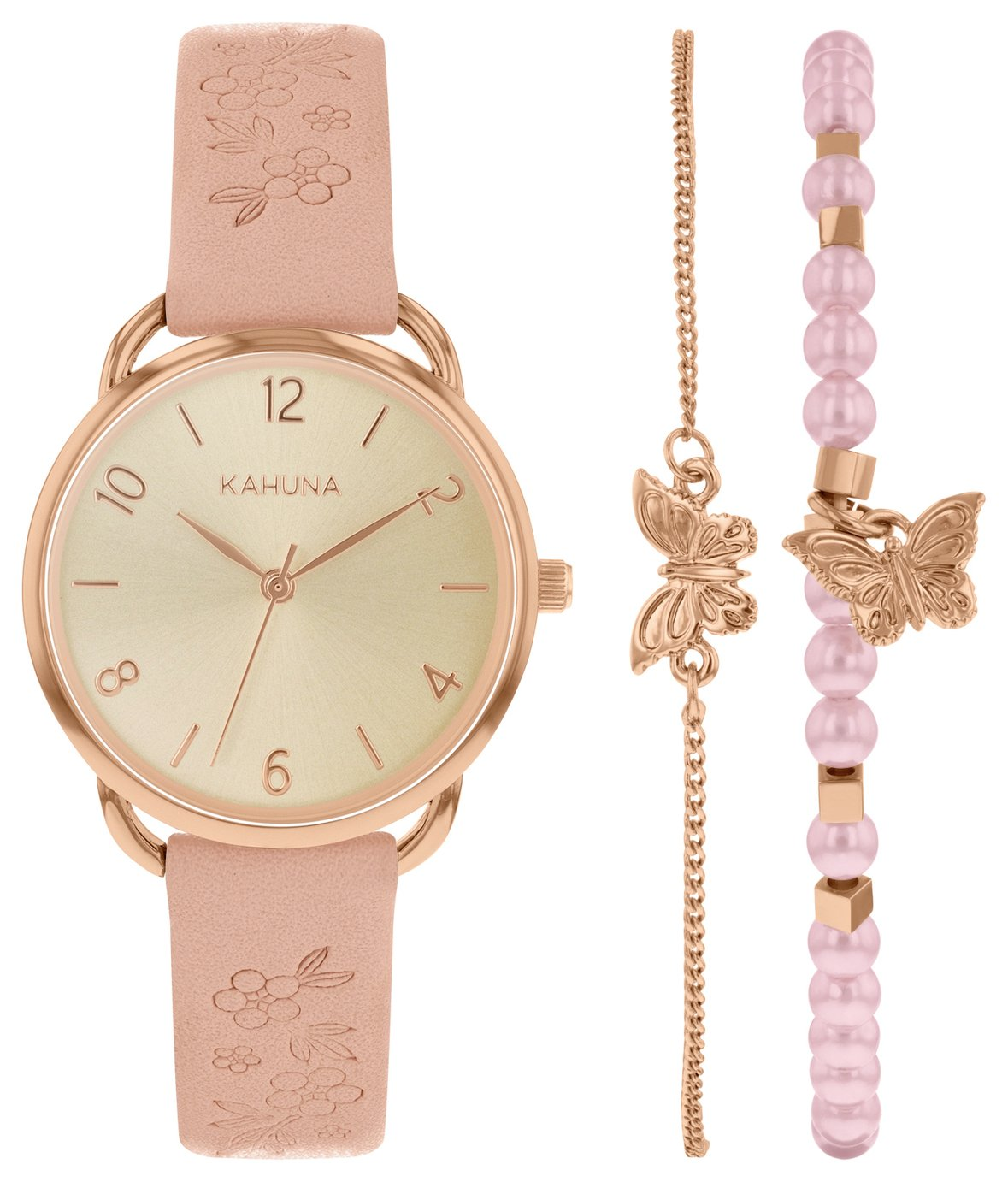 Kahuna Rose Gold Dial Ladies Pink Strap Watch