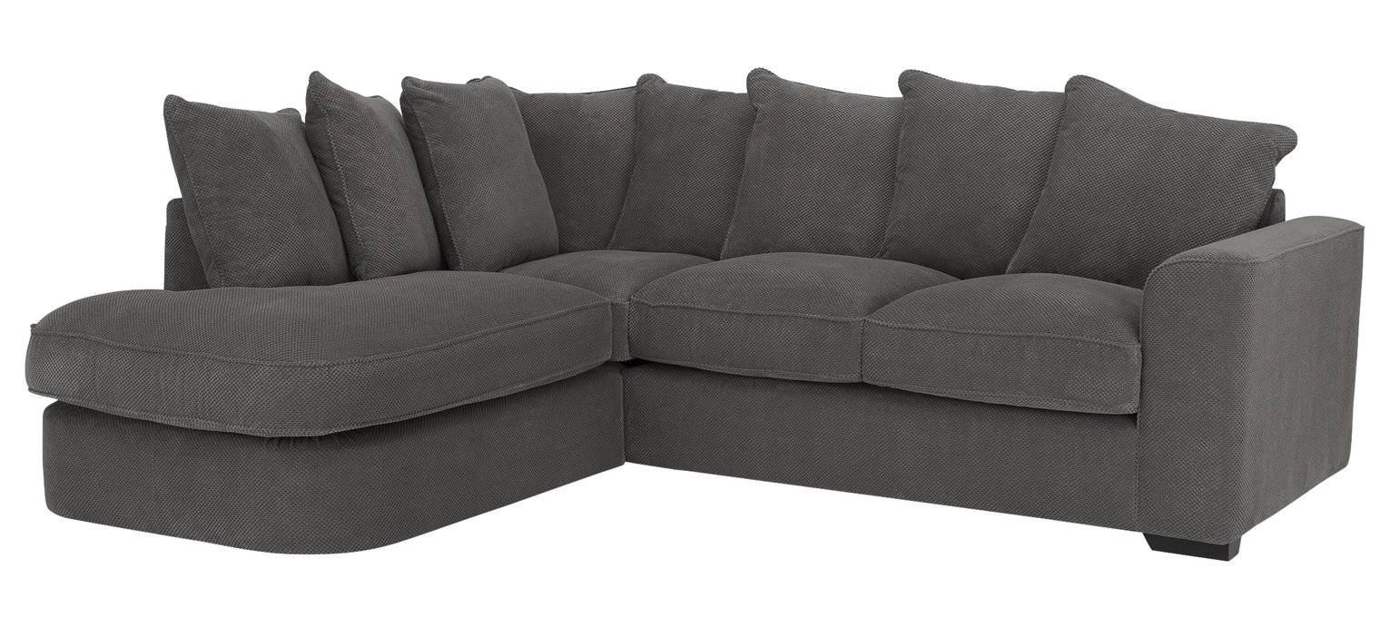 Habitat Carson Left Corner Fabric Sofa - Grey