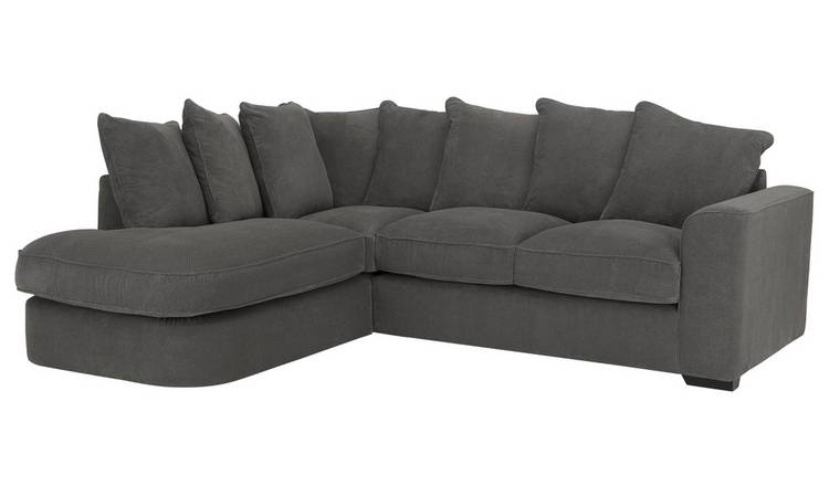 Habitat Carson Left Corner Fabric Sofa - Grey