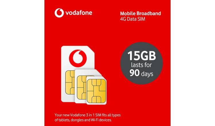 Buy Vodafone 15gb Pay As You Go Data Sim Card Sim Cards Argos