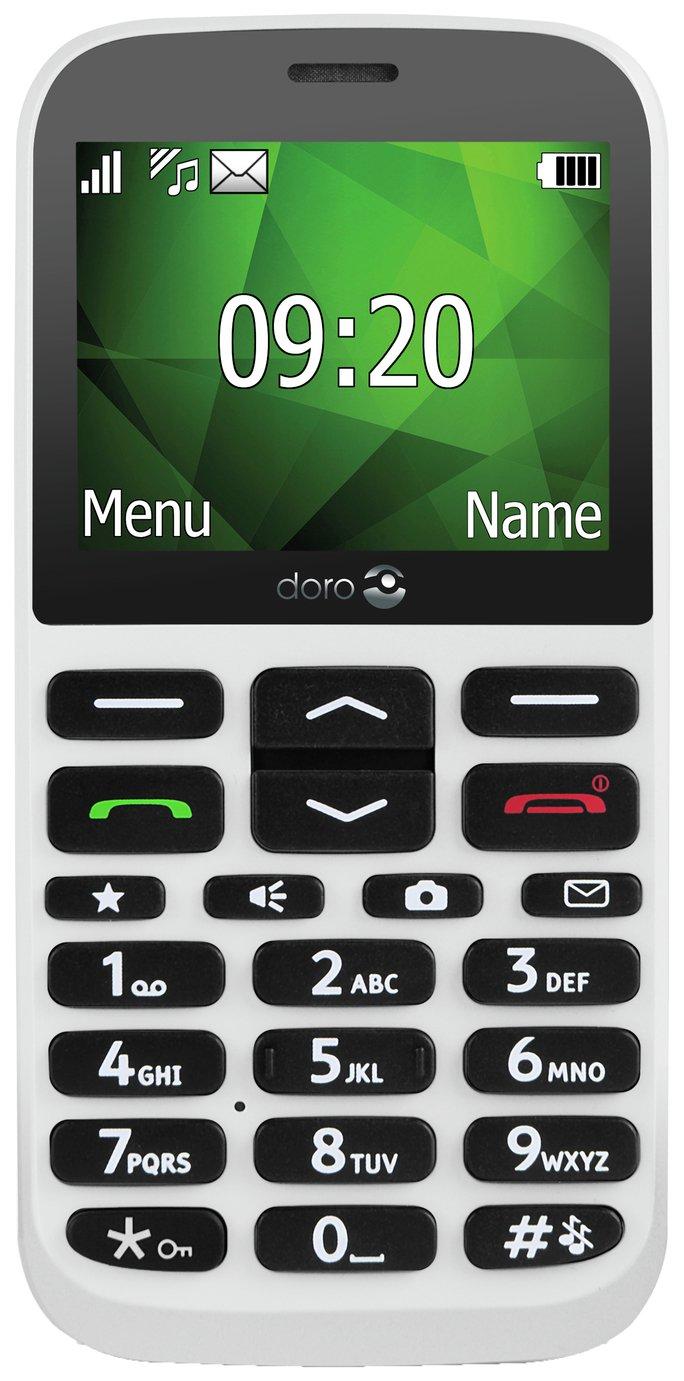 SIM Free Doro 1370 Mobile Phone - White