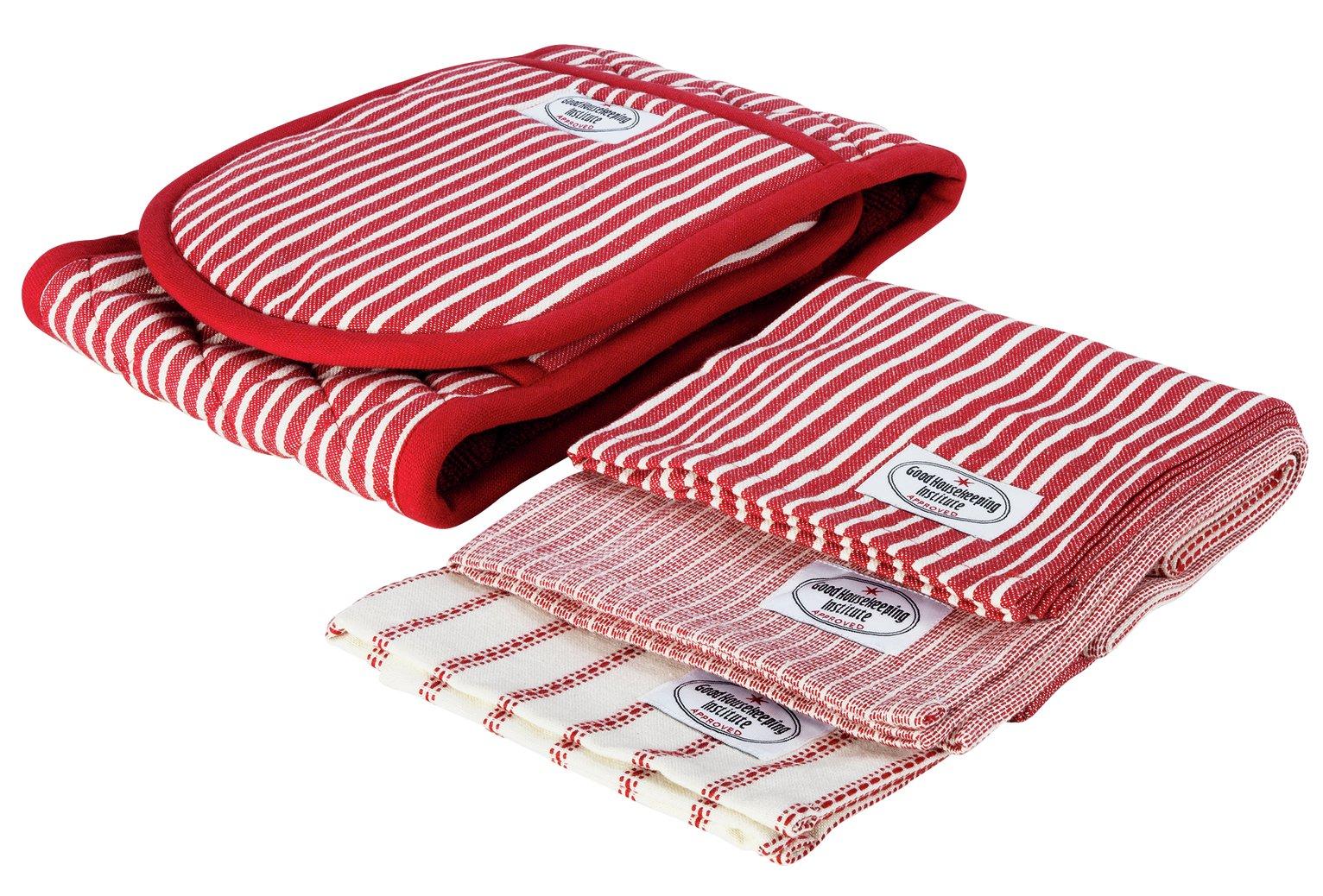 Good Housekeeping Double Oven Glove and Tea Towel Set