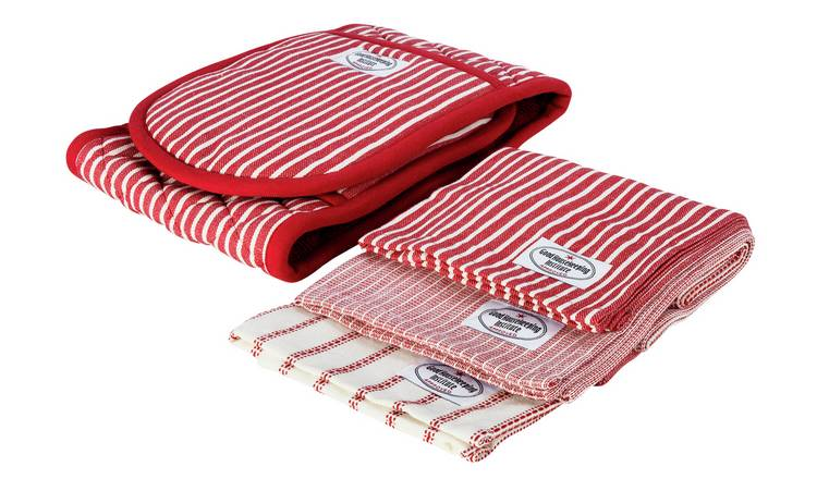 Good Housekeeping Double Oven Glove and Tea Towel Set