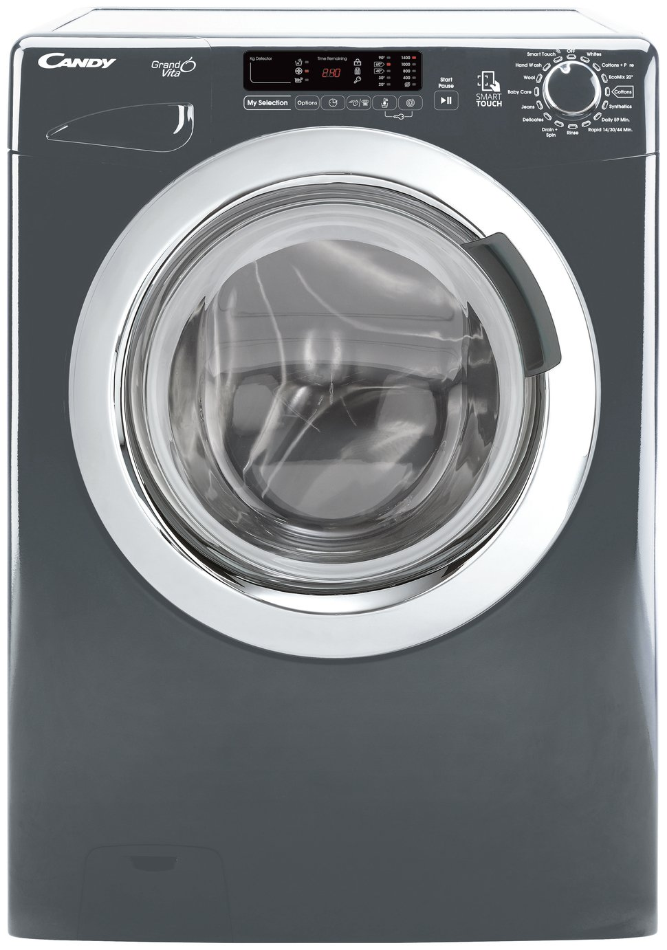 Candy GVS 148DC3R 8KG 1400 Spin Washing Machine - Graphite
