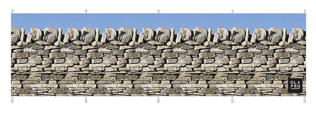 Olpro Stone Wall 5 Pole Windbreak